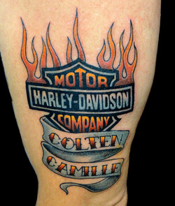 harley davidson - left arm