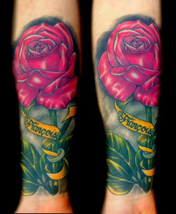 flower - rose ring - right forearm