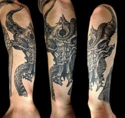 snake skull - left forearm
