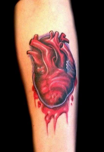 human heart - forearm