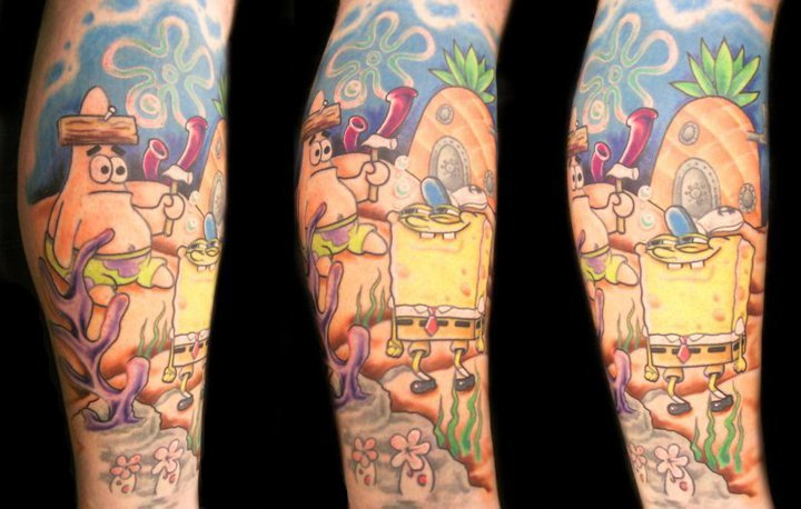 sponge bob - leg sleeve