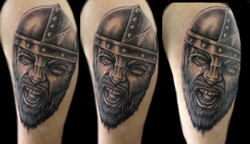 portrait - viking - left upper arm