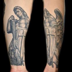 archangel michael on arm