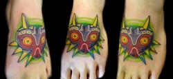 majora's mask - left foot