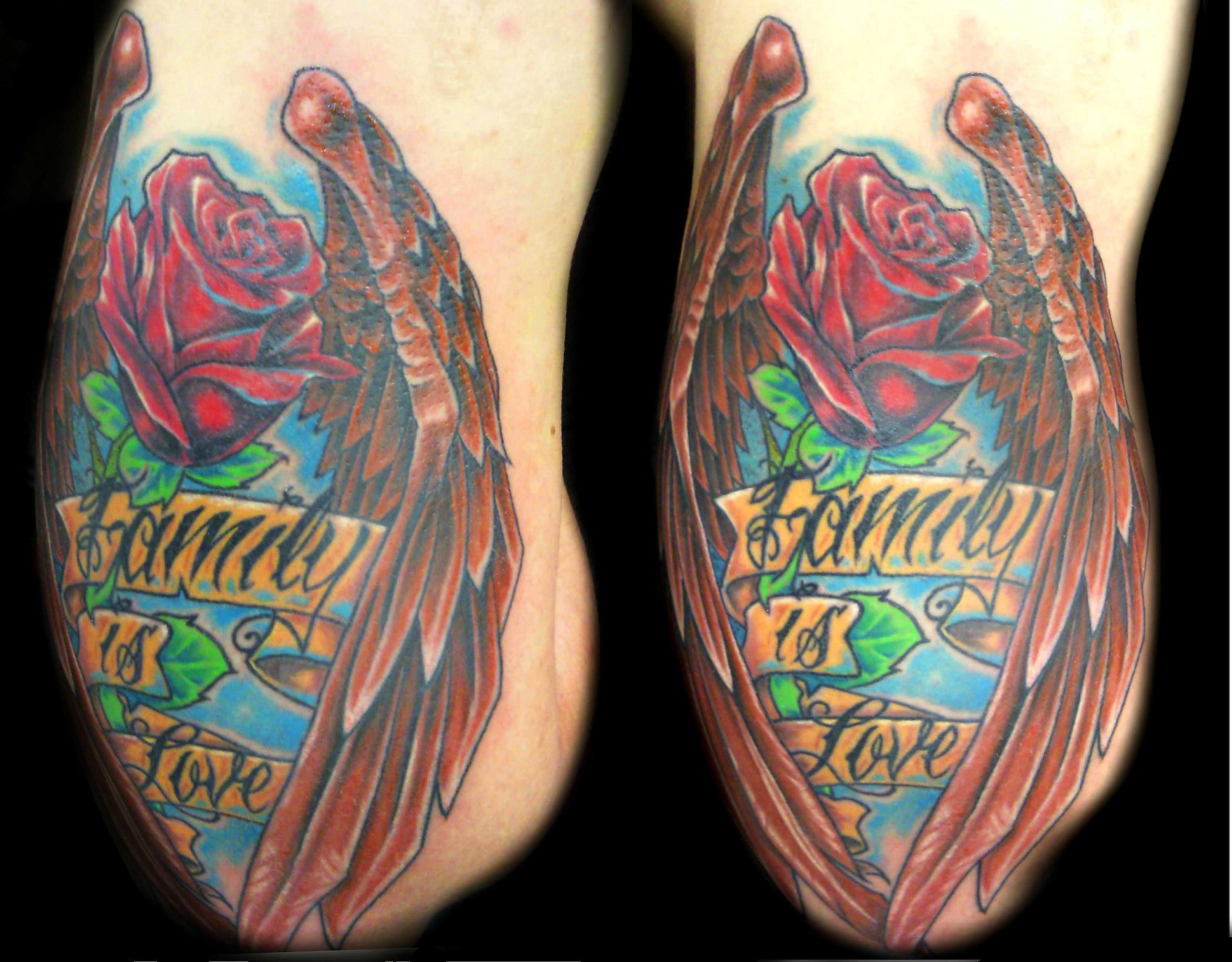 rose wings - back of arm