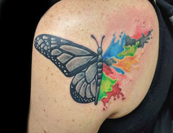 butterfly watercolor - left shoulderblad