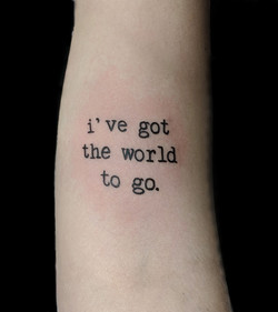 ive got the world to go - forearm