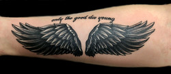 wings - right forearm