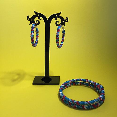 Hoops and bracelets set