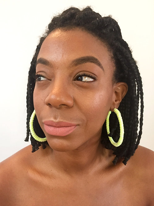 Extra Large hoops earrings Neon Infection