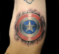 captain america shield - left arm