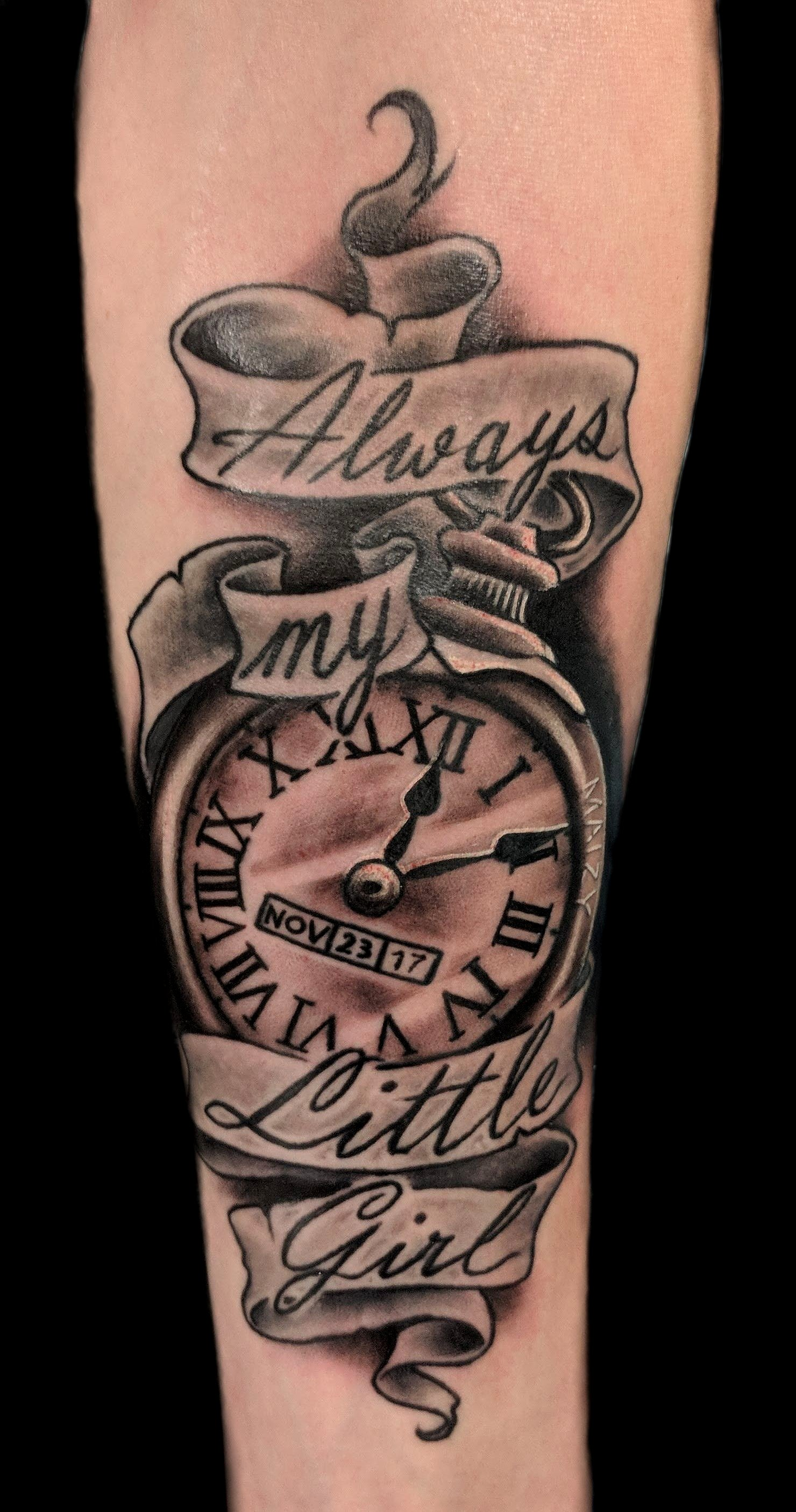 pocketwatch - left forearm