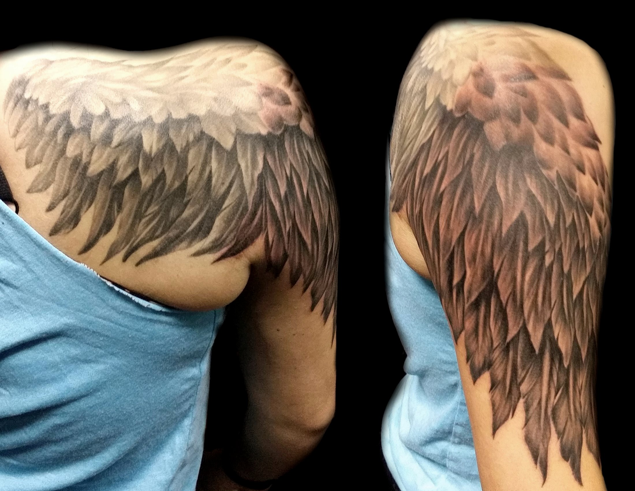 angel wing - right shoulder arm