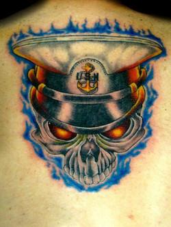 skull usn - back