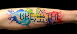 breathe - watercolor - right forearm