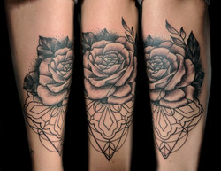 rose line design - right forearm