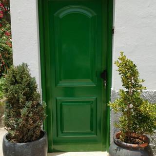 Puerta panel Verde