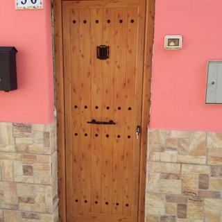 Puerta machimbrado imitación madera