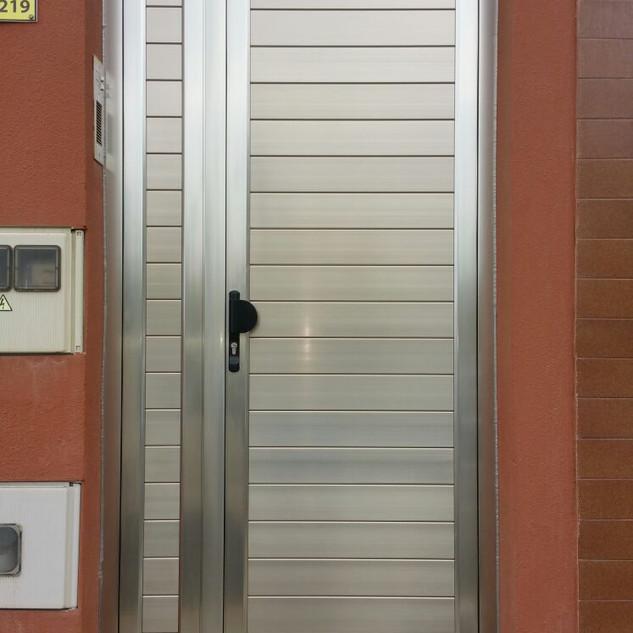 Puerta andoziado color inox