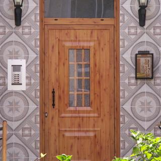 Puerta panel imitacion madera