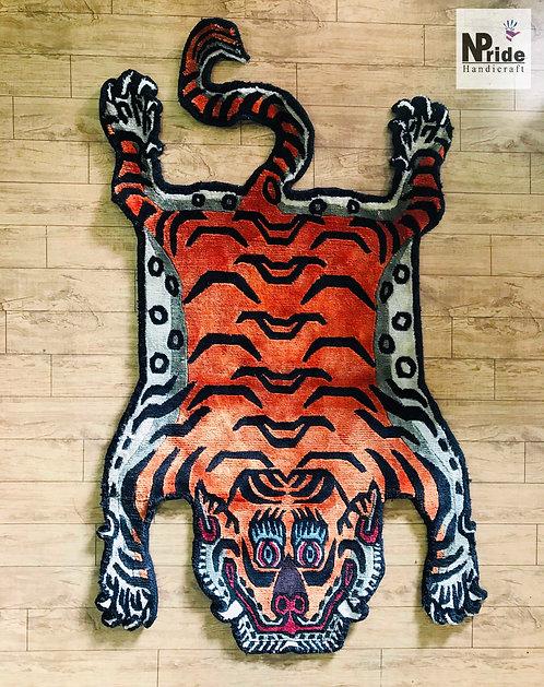 Silk Tiger Rug 2x3ft 050