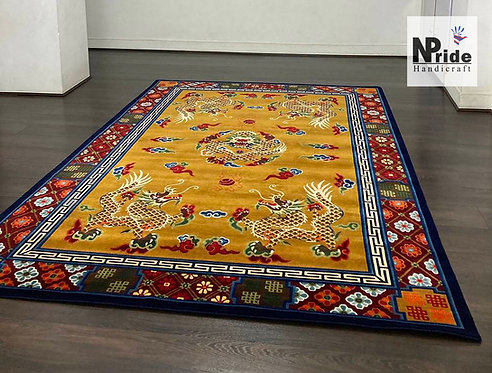 Handknotted Dragon Rug 079