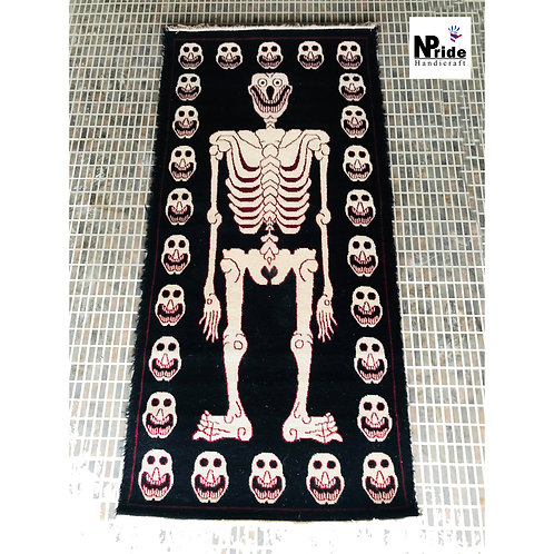 Tantric Tribal  Skeleton Rug 031