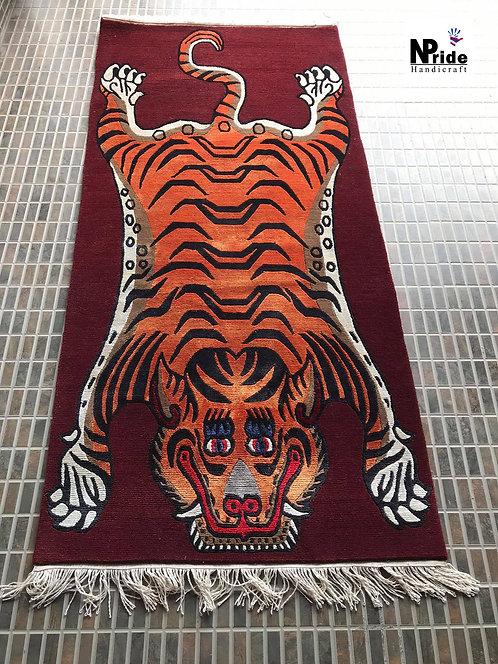 Tibetan Tiger Rug Runner 049