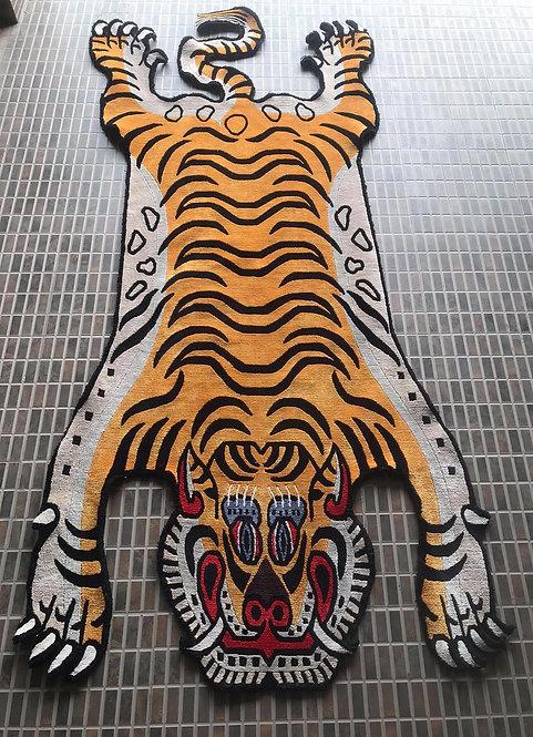 Tibetan Tiger Rug Gold 071