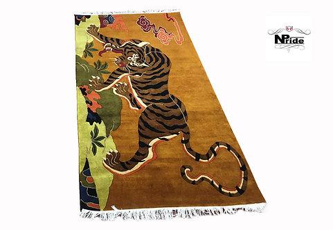 Tibetan Tiger Rug Beige 017