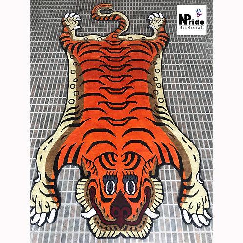 Silk Tiger Rug 3 Sizes 036