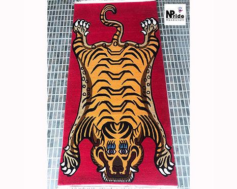 Rectangle Tiger Rug 053