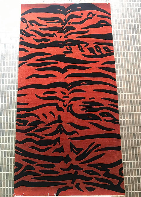 Tiger Stripe Rug 058
