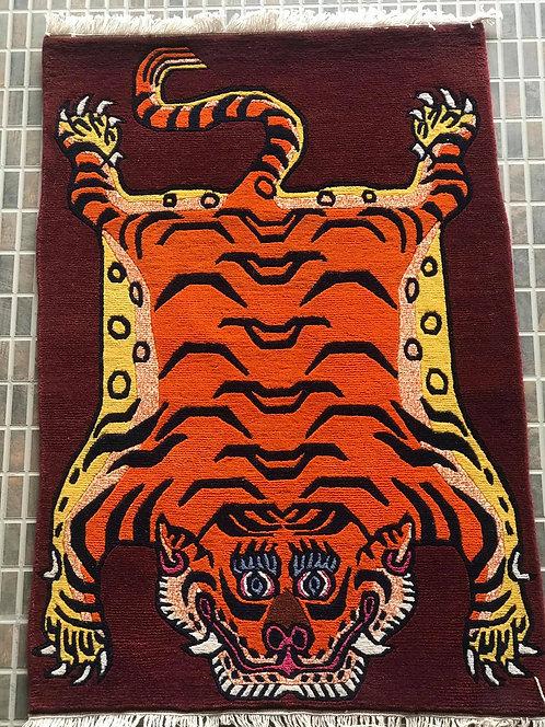 Rectange Tiger Rug 072