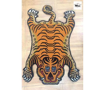 Tibetan Tiger Rug Orange 023