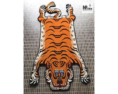 Tibetan Tiger Rug Lt.Orange 074