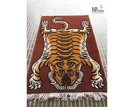 Handknotted Tiger Rug 085