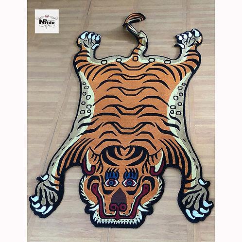 Tibetan Tiger Rug Orange 02