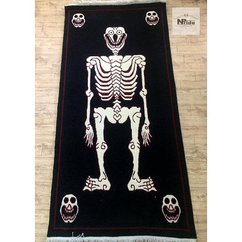 Tibetan Skeleton Tantric Rug 012