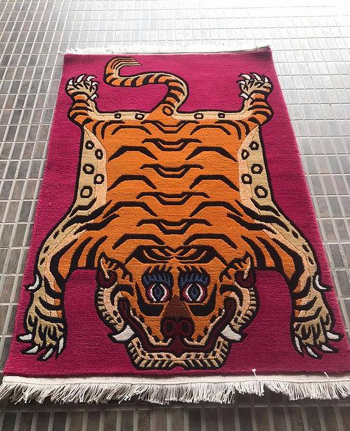Rectange Tiger Rug 069