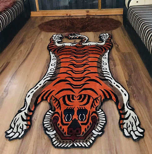 Silk Tiger Rug 3 Sizes 036