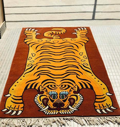 Rectangle Tiger Rug  063