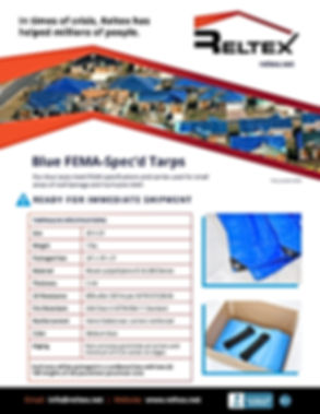 Reltex Blue Tarps FEMA Specification