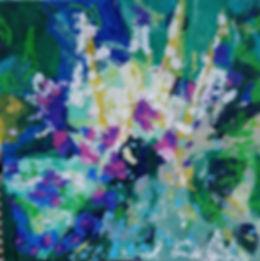 'Sisyrinchiums and geraniums - early sum