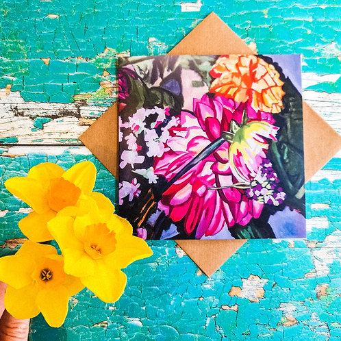 Blank Card: Bouquet