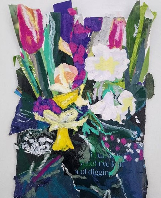 Spring flowers, Mixed media