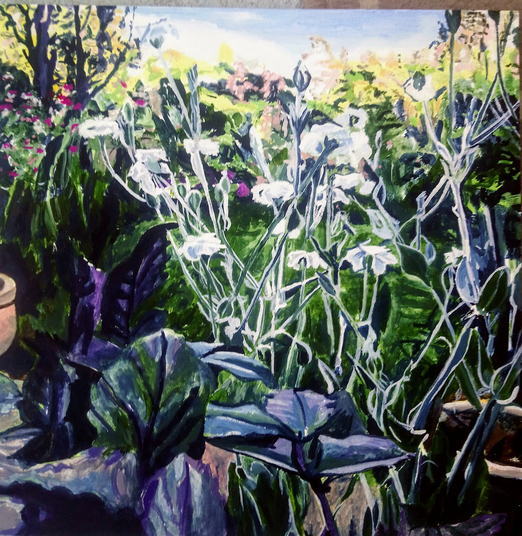 Clare's garden (slider and garden), 30cm