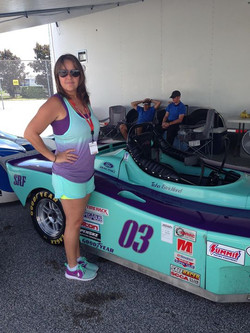 Facebook - Tish's matching outfit with car