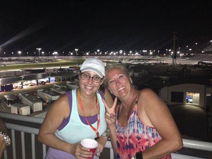 Facebook - Watching night Spec Miata Qualifying with David and Tamara