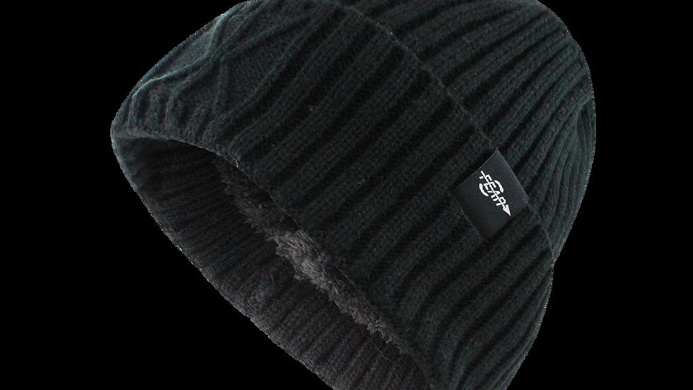 Fear0 Extreme Warm Black Cuff Winter Sport Skullies Watch Cap Beanie Hat